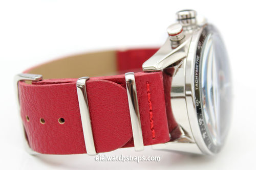 TAG Heuer CARRERA NATO Red Leather watch strap