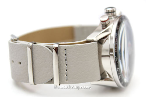 TAG Heuer CARRERA NATO Gray Leather watch strap