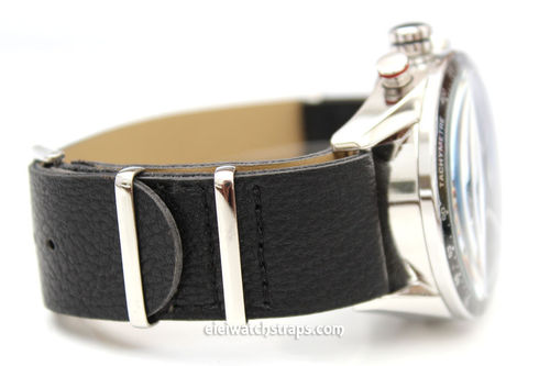 TAG Heuer CARRERA NATO Black Leather watch strap