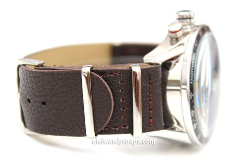 TAG Heuer CARRERA NATO Brown Leather watch strap