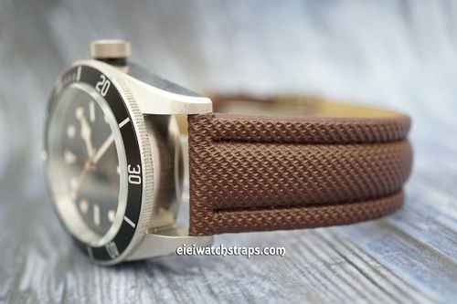 Tudor Black Bay Brown Polyurethane Waterproof Watch Strap