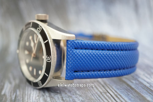 Tudor Black Bay Blue Polyurethane Waterproof Watch Strap