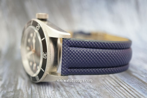 Tudor Black Bay Navy Blue Polyurethane Waterproof Watch Strap
