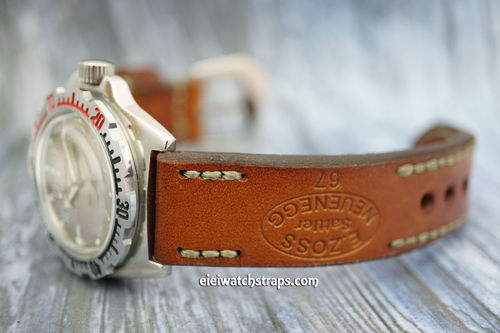 Vostok Amphibian Zoss Hand Made Vintage Style Ammo Leather Watch Strap