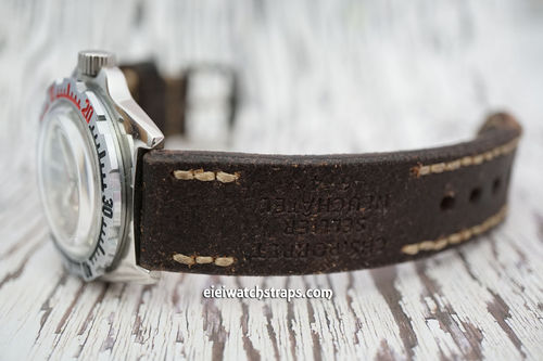 Vostok Amphibian Potter Hand Made Vintage Style Ammo Leather Watch Strap