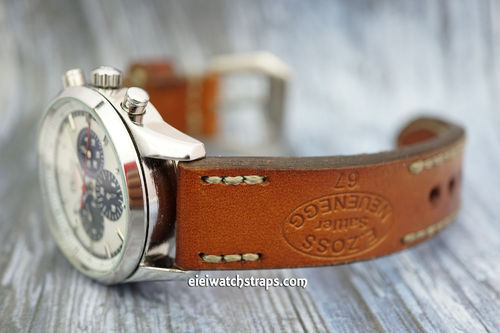 Zenith El Primero Zoss Hand Made Vintage Ammo Leather Watch Strap