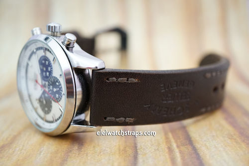Zenith El Primero Geneva Hand Made Vintage Ammo Leather Watch Strap