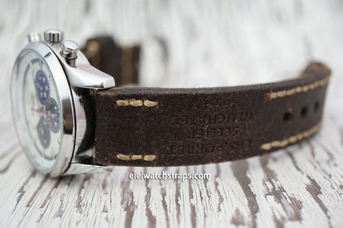 Zenith El Primero Potter Hand Made Vintage Ammo Leather Watch Strap