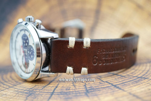 Zenith El Primero Dom Hand Made Vintage Ammo Leather Watch Strap