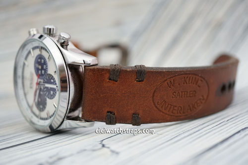 Zenith El Primero Kuza Hand Made Vintage Ammo Leather Watch Strap