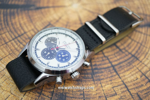 Zenith El Primero NATO Black Leather Watch Strap