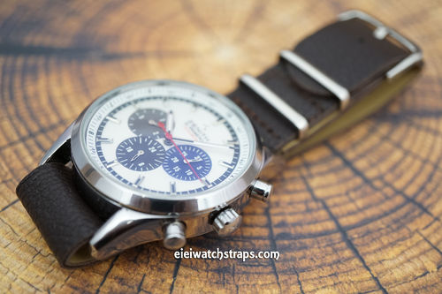 Zenith El Primero NATO Dark Brown Leather Watch Strap