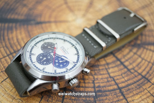Zenith El Primero NATO Dark Gray Leather Watch Strap