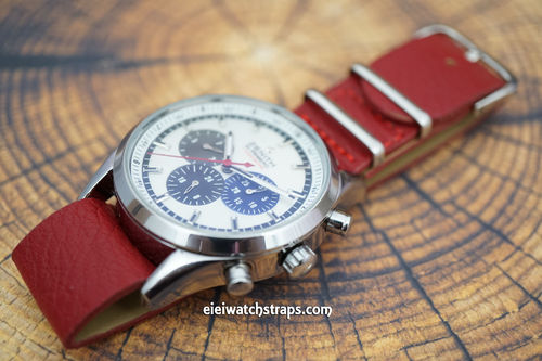 Zenith El Primero NATO Red Leather Watch Strap