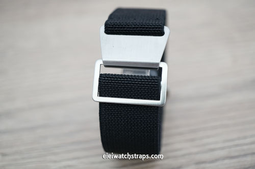 Classic Black Elastic Parachute Military Watch Band