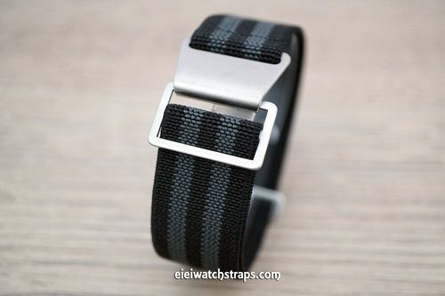 Classic Black Gray Elastic Parachute Military Watch Band