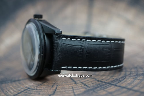 Bell & Ross Black Alligator Padded Leather Watch Strap