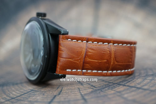 Bell & Ross Brown Alligator Padded Leather Watch Strap