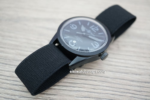 Bell & Ross Classic Black Elastic Parachute Military Watch Band
