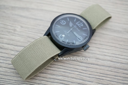Bell & Ross Classic Khaki Elastic Parachute Military Watch Band
