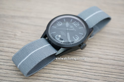 Bell & Ross Classic Gray Elastic Parachute Military Watch Band