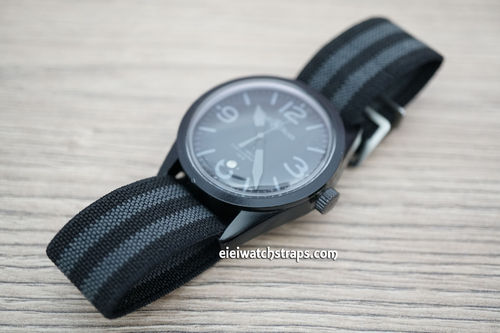 Bell & Ross Classic Black Gray Elastic Parachute Military Watch Band