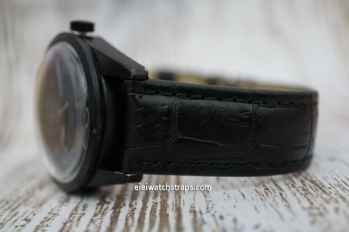 Bell & Ross Padded Black Crocodile Watch Strap Tang Buckle