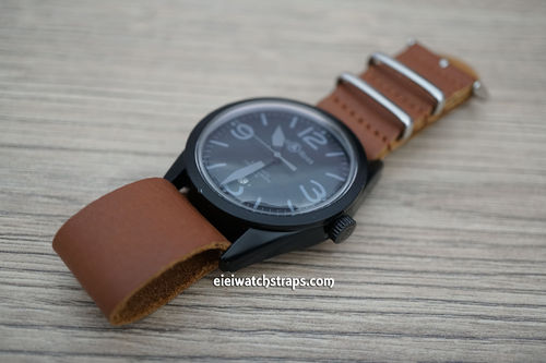 Bell & Ross NATO Genuine Brown Leather Watch Strap