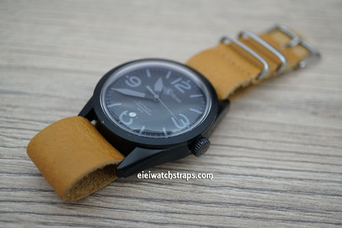 Bell & Ross NATO Genuine Tan Leather Watch Strap