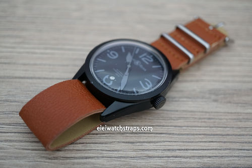 Bell & Ross NATO Brown Leather Watch Strap