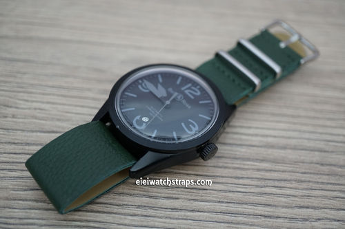 Bell & Ross NATO Green Leather Watch Strap