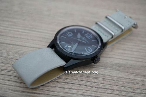 Bell & Ross NATO Gray Leather Watch Strap