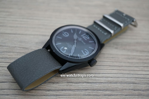 Bell & Ross NATO Dark Gray Leather Watch Strap