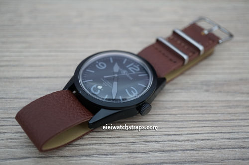 Bell & Ross NATO Dark Brown Leather Watch Strap