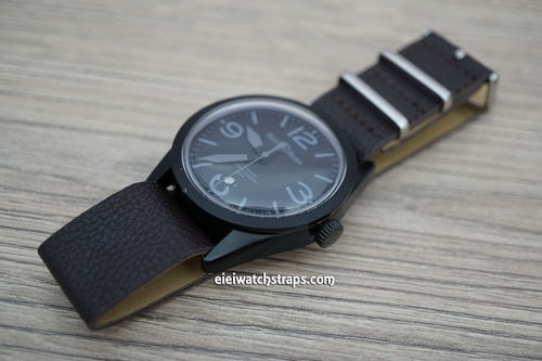 Bell & Ross NATO Dark Coffee Brown Leather Watch Strap