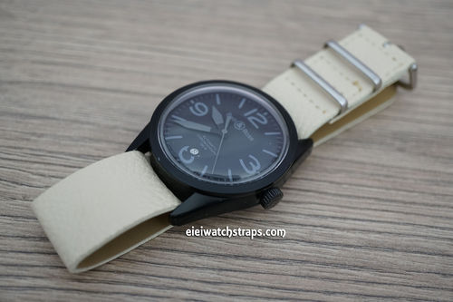Bell & Ross NATO White Leather Watch Strap