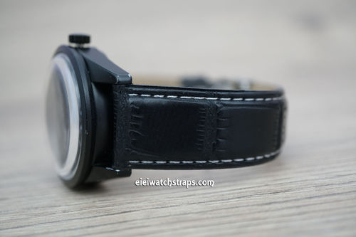 Bell & Ross Black Crocodile Watch Strap Tang Buckle