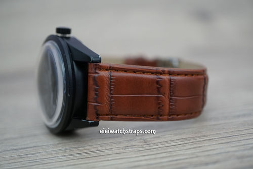 Bell & Ross Brown Crocodile Watch Strap Tang Buckle