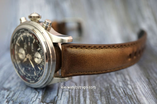 Ball Railmaster Handmade Padded Chromexcel Brown Horween Leather Watch Strap