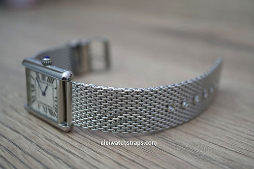 Cartier Stainless Steel Mesh Bracelet Tang Buckle