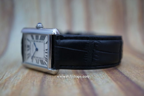 Cartier Black Crocodile Watch Strap