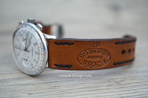 Junghans Zoss Hand Made Vintage Style Ammo Leather Watch Strap