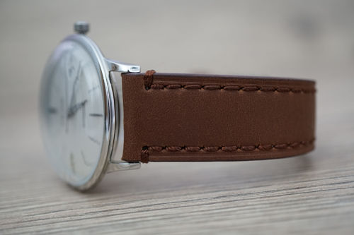 Junghans LIBERTY Hand Made Brown Leather Watch Strap