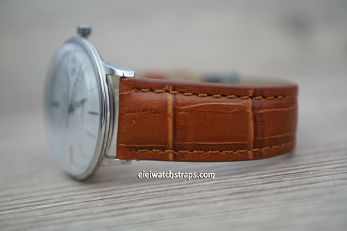 Junghans Classic Brown Crocodile Grain Leather Watch Strap