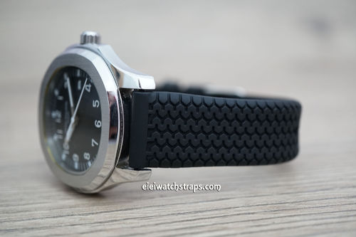 Patek Philippe HD Tyre Tread Rubber Watch Strap Tang Clasp