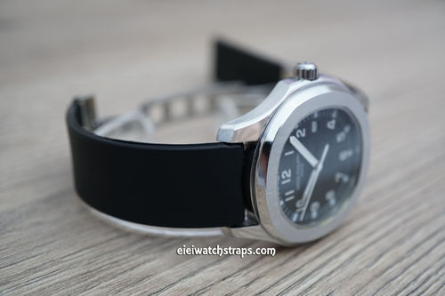 Patek Philippe 20mm Silicon Rubber Black Divers Watch Strap