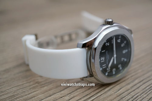 Patek Philippe 20mm Silicon Rubber White Divers Watch Strap