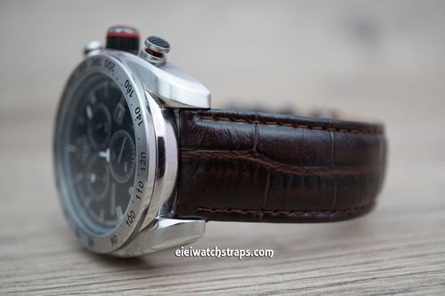 Tissot Crocodile Ovel Grain Leather Watch Strap on Tang Clasp