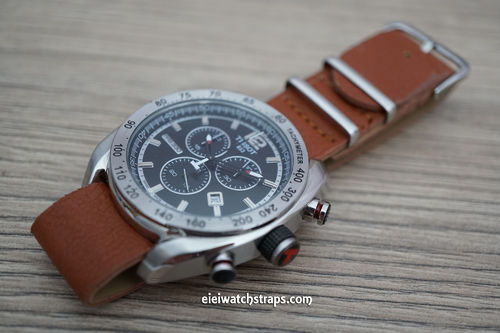 Tissot NATO Brown Leather Watch Strap