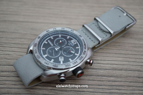 Tissot NATO Gray Leather Watch Strap